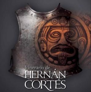 """Logo de la exposción """"Itinerario de Hernán Cortés"""", toda una declaración de intenciones"""